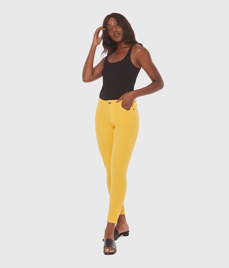 Alexa High Rise Skinny Jean - Yellow