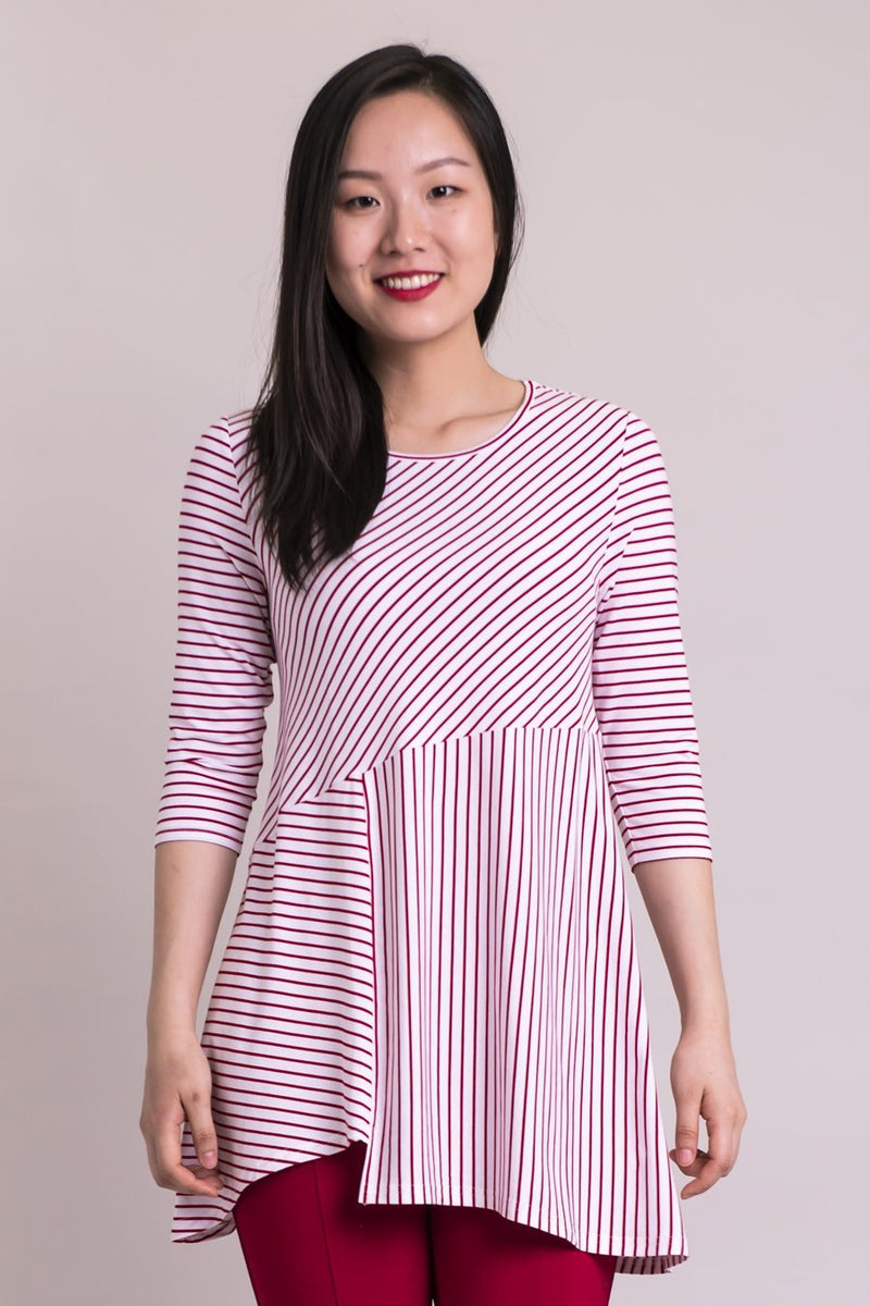The Charming Tunic - Red & White