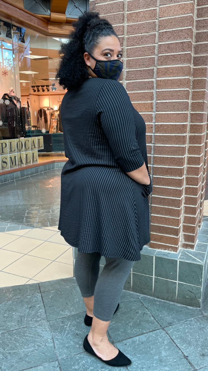 The Veronica Tunic - Black & Grey