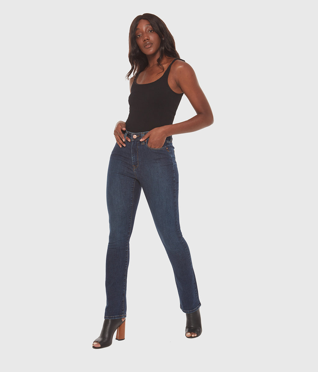 Kristine Mid Rise Skinny Jean in Cool Starry Night