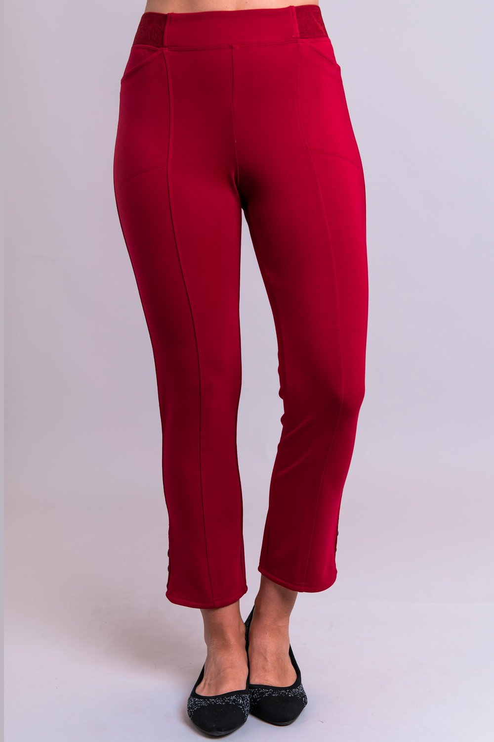 Nadine Pant in Lipstick Red