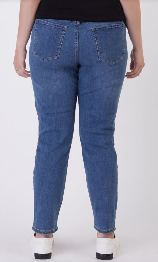 The Zoe Mom Jeans - Blue-wash