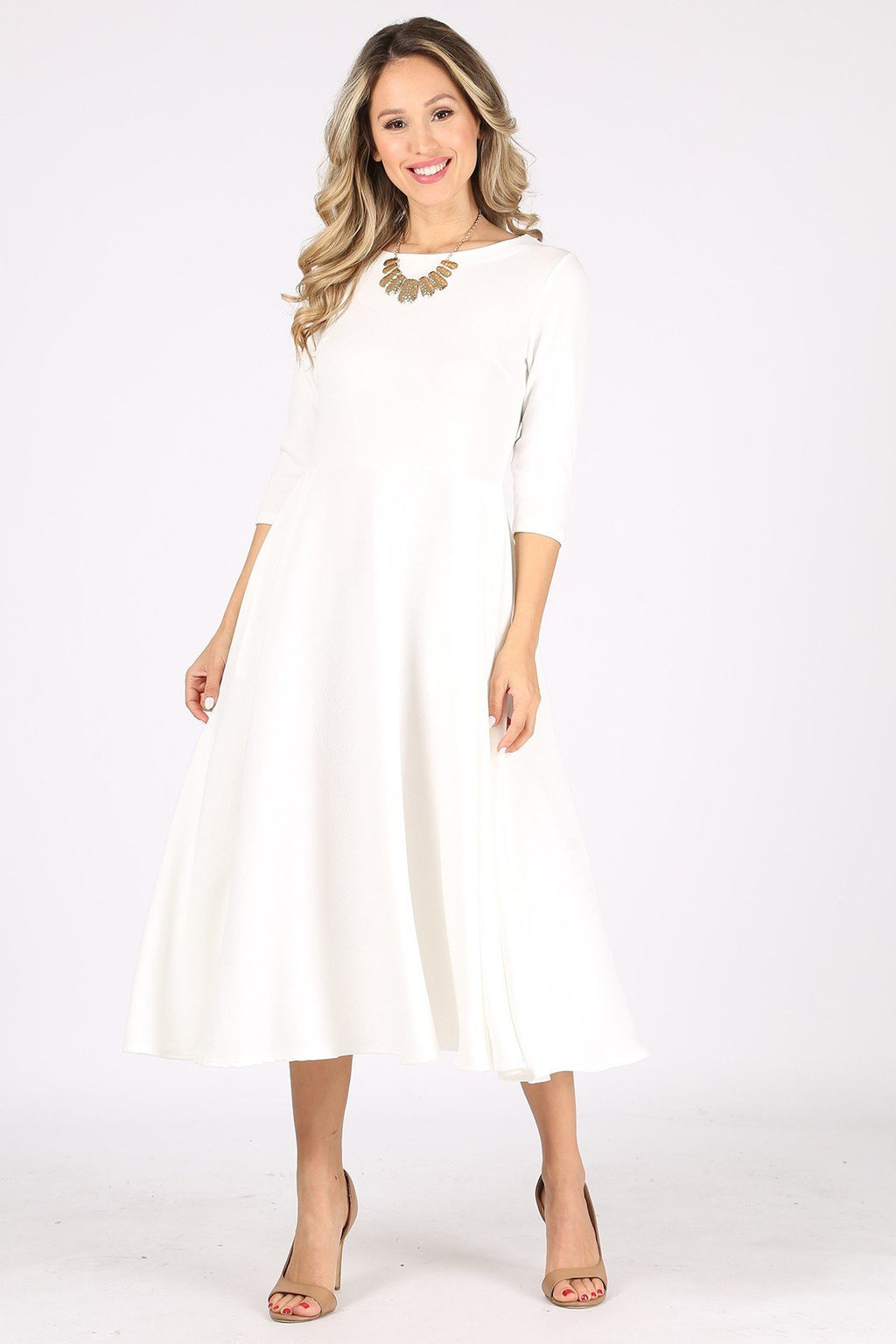 The Adira Dress - White