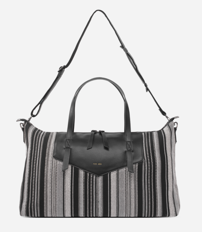 The Riley Weekender - Black & White Woven