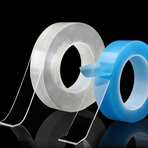 Transparent Magic nano-tape Washable Reusable Double-Sided tape Adhesive Nano Traceless Sticker Removable Universal Disks Glue