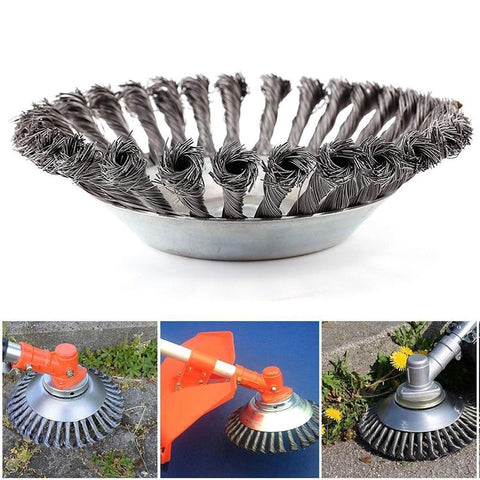 6inch Alloy Steel Wire Rust Removal Weeding Tray Brush Cutter Trimmer Metal Blade Grass Trimmer Head Garden tools