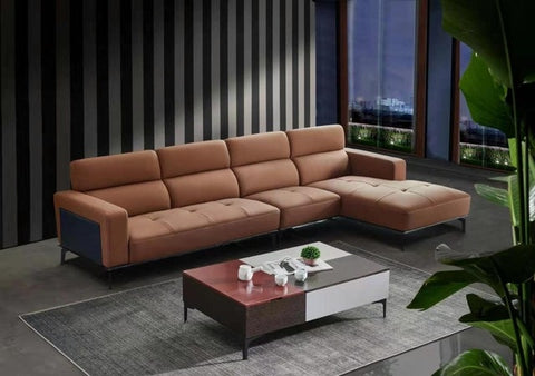 New design home Genuine leather sofa  real skin leather sofa conner leather sofa