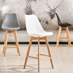 2pc Modern Bar Chair Minimalist Firmly High Stool Wooden Bar Chair Coffee Pub Drinking Barstool Home Funiture Kitchen Chair HWC