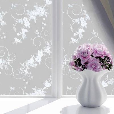 Frosted Opaque Glass Window Film For Window Privacy Adhesive Glass Stickers Home Decor Mixed Color Bedroom Wide 45cm*Long 100cm