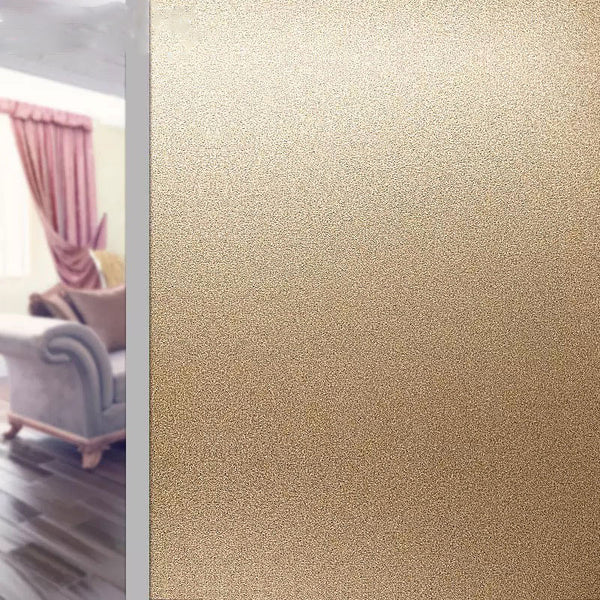 Gold Frosted Glass Window Film Sticker Privacy glue-no Office Static Cling PVC Self-Adhesive Decorative vinyl window stickers