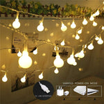 3M/5M/10M Garland Xmas LED Ball String Light 5V USB Operated 20 50 100 LED Fairy Lights For Christmas Tree Wedding Party Decor