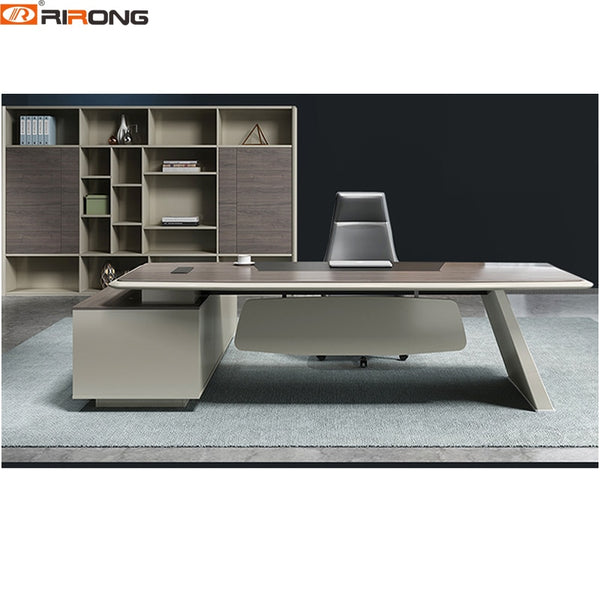 Italy Style Wooden Study table Small Laptop  Computer Stand Executive Manager Boss Office Furniture Table Desk With Cabinet