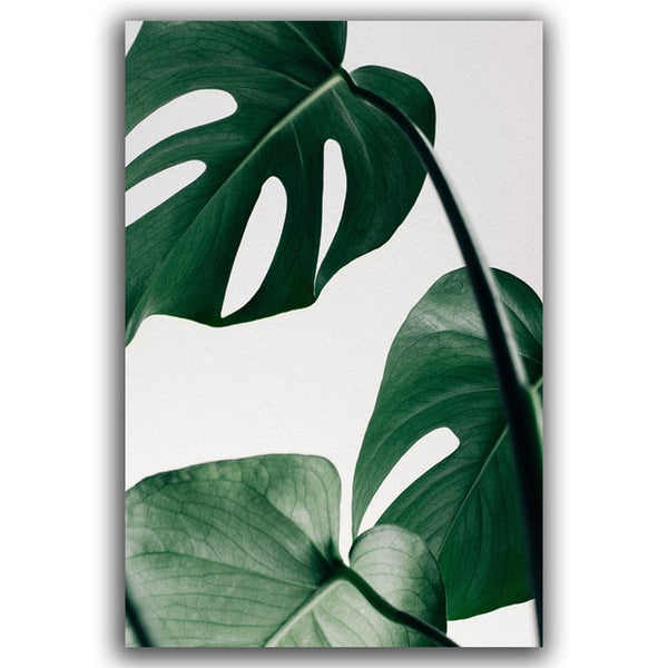 Nordic Canvas Painting Modern Prints Plant Leaf Art Posters Prints Green Art Wall Pictures Living Room Unframed Botanical Poster