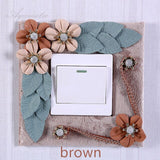 Aqumotic Wall Off Switch Sticker for Cloth Light Flower Electric Switchs Stickers Socket Simple Cloth Sticker Bedroom Household
