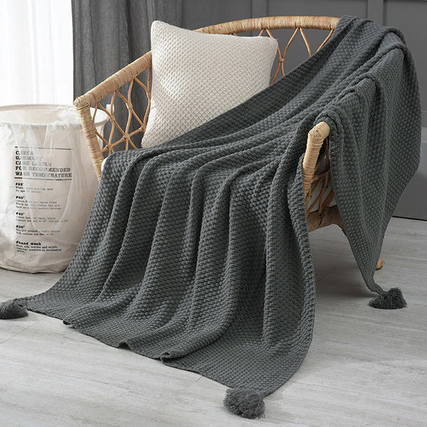 Nordic Sofa Blanket Office Nap Shawl Blanket Knitted Wool Blanket Leisure Air Conditioning Blankets  for Beds Weighted Blanket