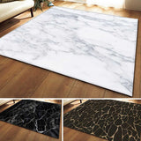 Black White Marble Printed Large Carpet For Living Room Anti-Slip Sofa Tatami Floor Mat Table Rug
