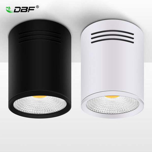 [DBF]Dimmable LED COB Surface Mounted Downlight 3W/5W/7W/10W/12W/15W White/Black Housing AC85-265V Ceiling Spot Light Home Decor