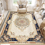 European Soft Carpet Living Room Bedroom Modern Large Area Rugs Palace Vintage American Style Carpet Non-slip Thick Rug Parlor