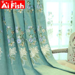 Customized High-precision Cashmere Thickening Chenille Full Blackout Shade Curtain For Living Room Luxury Tulle Drapes wp316#40