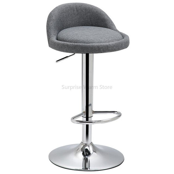 Iron Lifting Bar Chair with Extra Large High Quality Leather Dinning Chair Dotomy Make Up Chair Modern Bar Stool  Home Furniture