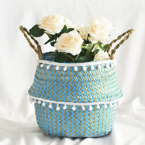 Best Selling 2019 Products Seagrass Wicker Basket Flower Pot Folding Baske