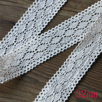 5Yards 1-5CM Beige White  5Yards DIY Handmade Wedding Party Craft Gift Packing Patchwork Cotton Crocheted Lace Ribbon