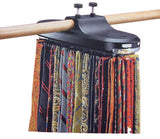 Automatic Tie Rack Belt Organizer Scarf  Hangs up to 64 ties and 8 Belts With LED Light