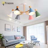 2020 Hardware Modern Led Chandelier Lights For Living Room Bedroom Square Indoor Ceiling Chandelier Lamp Fixtures
