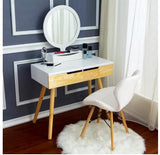 European-style solid wood dresser bedroom dresser mini modern simple dressing cabinet small family makeup table multi-functional