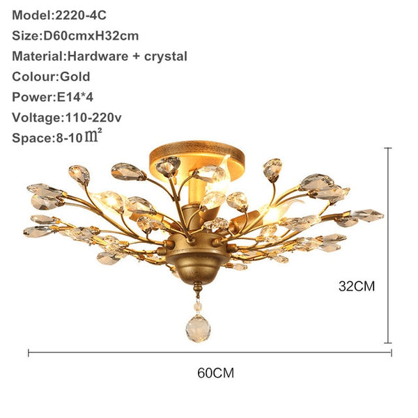Modern lustre crystal chandelier lighting living room led ceiling chandeliers light crystal pendant lamps ceiling lamps bedroom