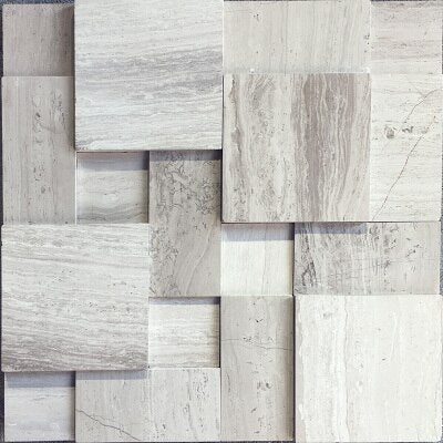American style 3D Stereo Natural Marble Mosaic tiles decoration glass mosaic 11pcs 300x300MM for Bathroom/living room background