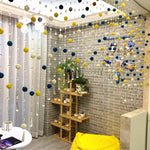 Bead curtain partition living room door curtain rattan ball chain aisle non-perforated decorative curtain bedroom door curtain g