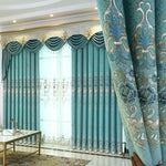 Chenille Curtains for  Living Room  Embroidered European Curtains for Bedroom Window Valance  Curtains Tulle