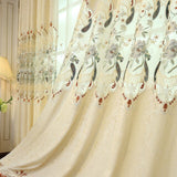 Curtains for Living Dining Room Bedroom European Embroidery Chenille Curtains Custom Valance Hollow