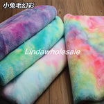Imitation Rainbow cloth plush fabric, handmade toy bag background clothing curtain pillow tablecloth material,faux fur fabric,