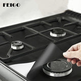 FEIGO Kitchen 0.12mm-0.3mm Thick Gas Stove Cooker Protectors Cover liner Clean Mat Pad Kitchen Gas Stove Stovetop Protector F89