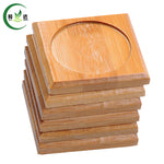 6.5x6.5cm 6pcs/Lot 100% Natural Bamboo Wood Round Trays For Tea Trays
