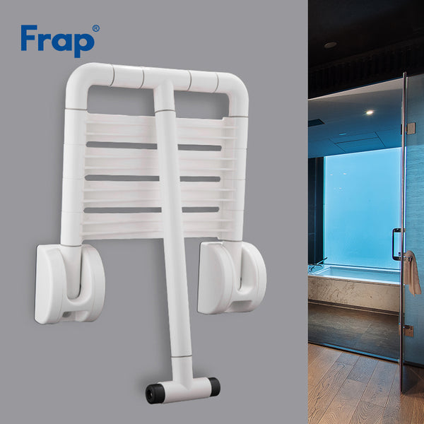 Frap Wall Mounted Shower Seat Bench Shower Folding Seat Bath Stool Commode Toilet Chairs Spa Bench Saving Space Bathroom F8132