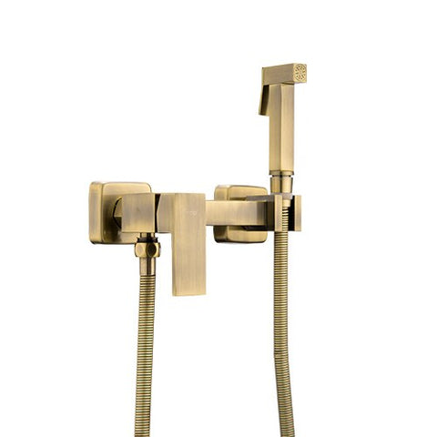 Frap Bidet Toilet new Solid Brass Chrome Handheld Portable Bidet Shower Set With Hot and Cold Water Bidet faucet Mixer F7504