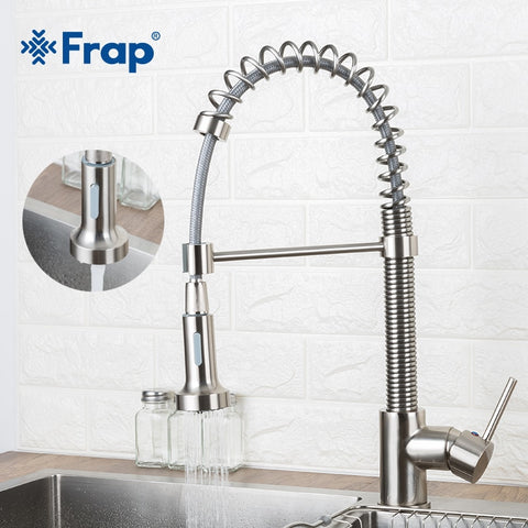 Frap Spray Kitchen Faucet Hot And Cold Faucets Single Handle Mixer Swivel Spray Tap Sink Faucet Kitchen Sink Faucet Y40091-1
