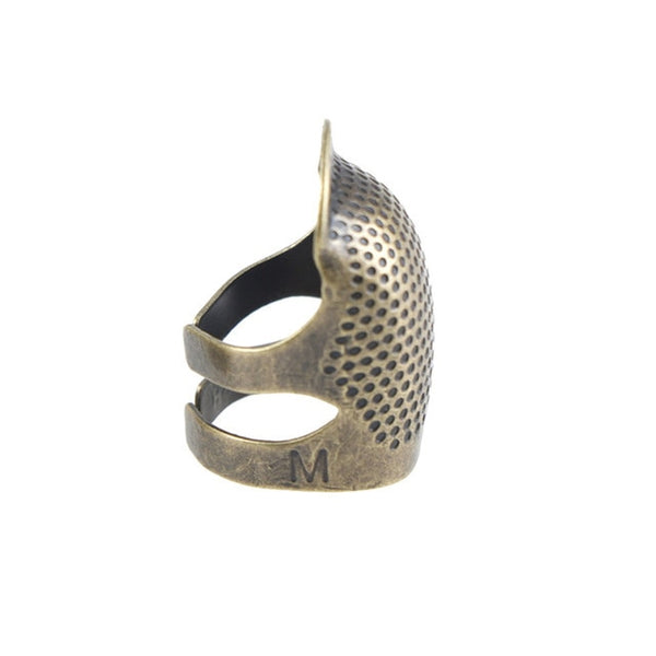 Sewing Thimble Finger Protector Adjustable Finger Metal Shield Protector Pin Needles Sewing Tool Hogard OC16