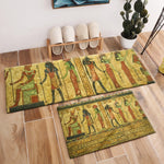 Ancient Egypt Hieroglyphics Pharaoh Crystal Velvet Area Rug And Carpet For Kids Baby Home Living Room Cushion Bedroom Floor Mat