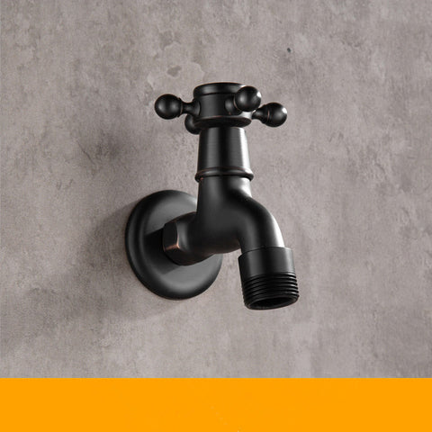 ZGRK High quality Black Oil Rubbed Bronze double using washing machine faucet bathroom corner faucet tap garden outdoor mixer