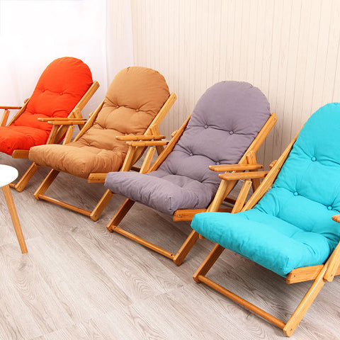 Bamboo Court Lazy Chair Folding Chair Sofa Recliner Simple Leisure Chair Lunch Break Reinforcement Office Nap Chair