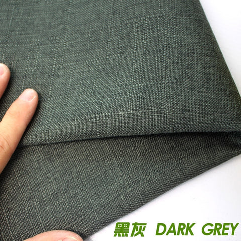 "Dark grey Compound lining Linen Fabric Sofa Cushion Fabirc Sewing Cloth Outdoor Linen Blend Fabric Upholstery 58"" wide Per Yard"