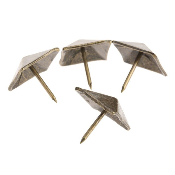 50Pcs Decorative tachas Upholstery Tacks Bronze Antique Square Upholstery Nail Studs Leather Furniture Tools Home Decoration
