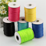 1 mm 15 meters Wax Beading Cord Round Velvet Lace Rope Jewelry Findings Waxed Rope For Fashion Jewelry Crafts