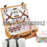 New products wicker picnic basket rattan dining   bag four people group food storage portable insulation  bask
