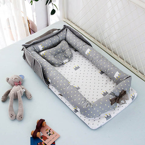 Removable Baby Cot Nest Bed Bebe Protect Cradle Cushion Bumper Travel Crib for Newborn
