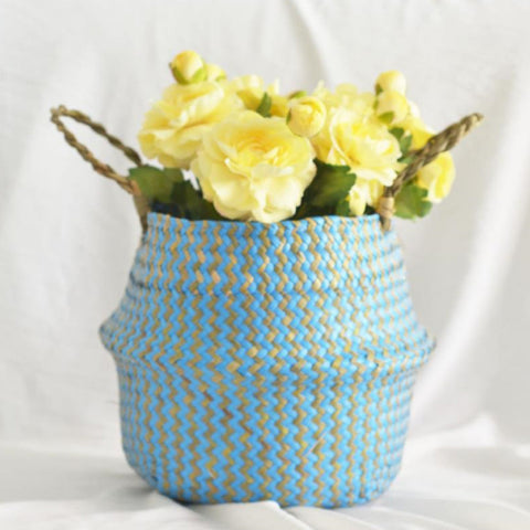 Best Selling 2019 Products Seagrass Wicker Basket Flower Pot Folding